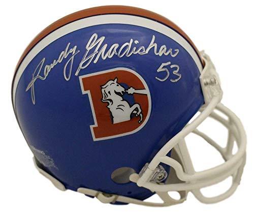 Randy Gradishar Autographed/Signed Denver Broncos D Logo Mini Helmet