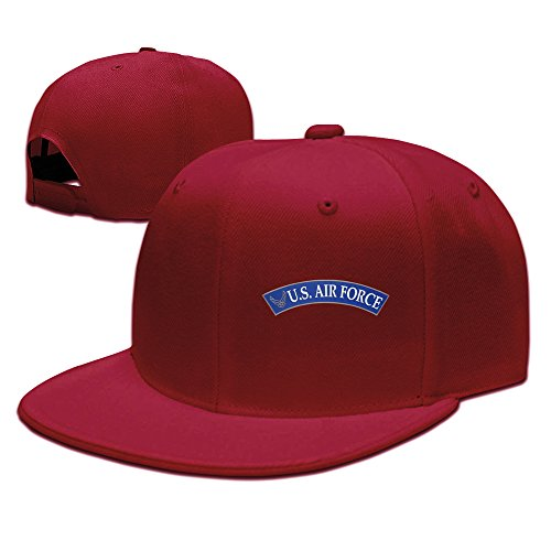 BestSeller Unisex United States Air Force Flat Snapback Adjustable Baseball Caps Hats Red