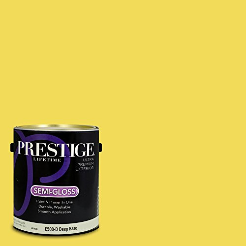Prestige Paints Exterior Paint and Primer In One, 1-Gallon, Semi-Gloss,  Comparable Match of Benjamin Moore St. Elmo'S Fire