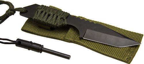 SE KHK6320 7-Inch Hunting Knife with Fire Starter, Outdoor Stuffs