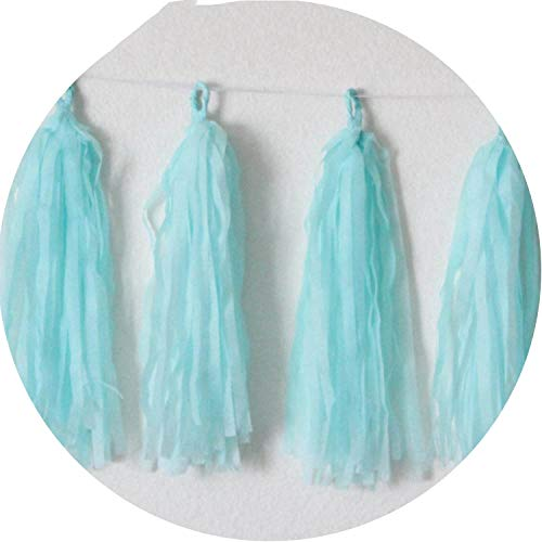 Noon-Sunshine decorative-plaques 10pcs 12inch Colorful Confetti Balloon Happy Birthday Balloons Baby Shower Decorations,5pc Turquoise Tassel
