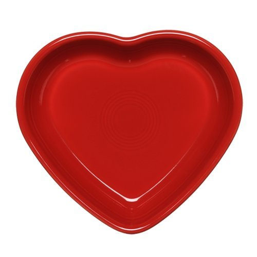 Heart Shaped Bowls (Fiestaware Heart Shaped Small Bowl, 7 Oz. (Retired) (Scarlet))