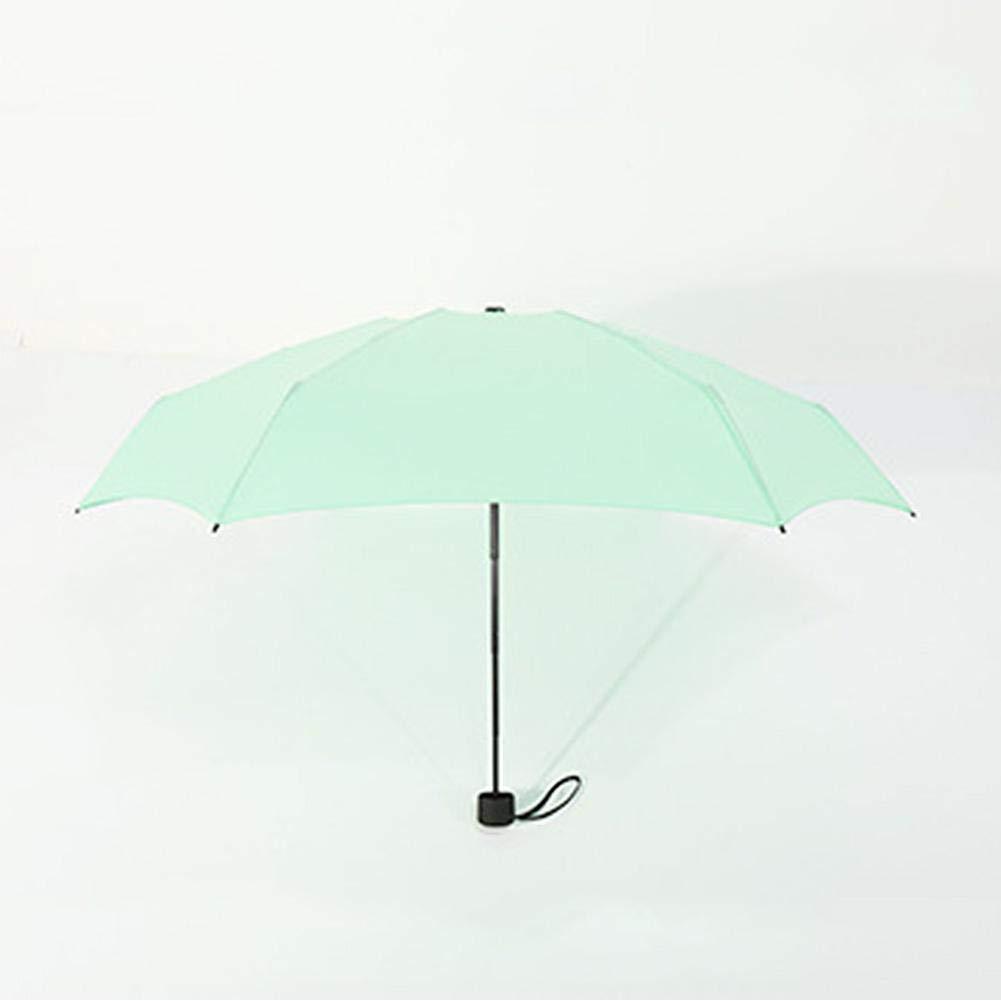 Ultra Ligero peque/ño Paraguas de Viaje Anti-UV Paraguas Sol novedoso de Bolsillo Ultra protectrice Amarillo Biback Mini Paraguas Plegable