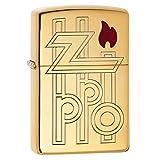 Zippo Abstract Logo Armor High Polish Brass Pocket Lighter, one Size (Color: Armor High Polish Brass Abstract Logo, Tamaño: One Size)
