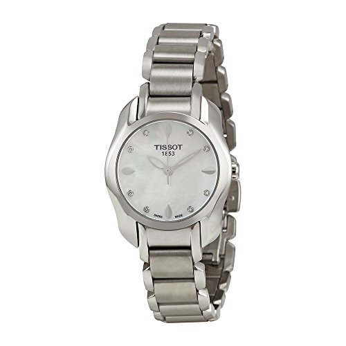 Tissot T-Wave Mother of Pearl Dial SS Quartz Ladies Watch T0232101111600 (Pearl Dial Ss)