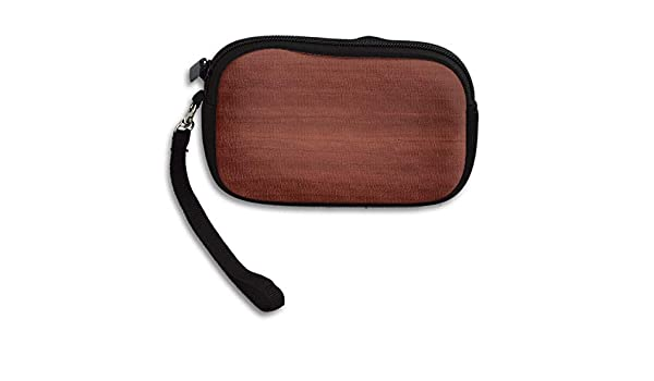 b5153ed3f495 Small Wallet Hand-held Belt Zipper Deep Red Wood Grain Purse Porte-monnaie  Cards Holder Wallet Purse 9.5x15cm at Amazon Women s Clothing store