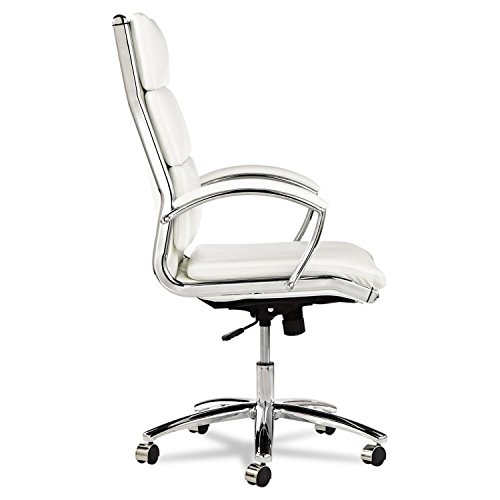 Alera Neratoli High-Back Swivel/Tilt Chair, White Faux Leather