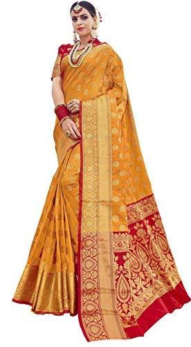 a5d853032c851 EthnicJunction Booti Work Zari Butta Banarasi Silk Saree With Zari Thread  Work Unstitched Blouse Piece(EJ1178-7971