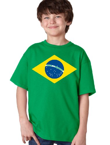 BRAZIL NATIONAL FLAG Youth T-shirt / Bandeira do Brasil, Brazilian