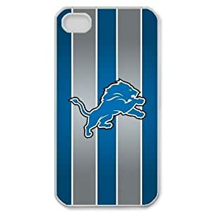 Alison Marvin Feil's Shop 7762946M41137091 Fitted iPhone 4/4s Cases NFL Lions logo back covers made of PC plastic