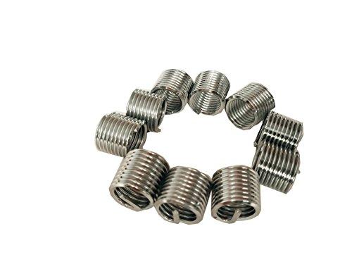 Delisert Type Free Running M8X1.0X1D 304 Stainless Steel Thread Insert 1000pcs by Delisert (Image #1)