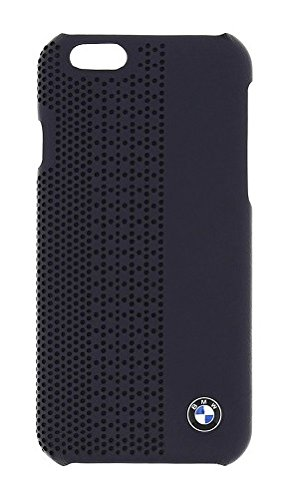 BMW Offcial iPhone 6 6S Signature Collection Genuine Leather Hard Case Perforated BLUE - BMHCP6PEN