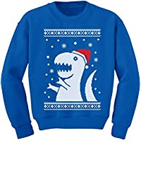 Ugly Christmas Sweater Big Trex Santa - Children Funny Kids Sweatshirt