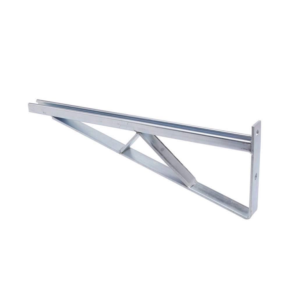 Cooper B-Line B494-18-Zn Braced Single Bracket. Steel, Electro-Plated Zinc, (2) 9/16 Inch Vertical Hole Mount