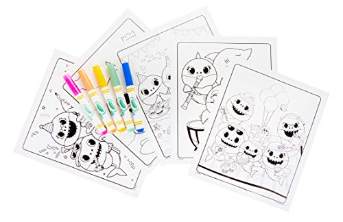 41yzQxigQYL - Crayola Baby Shark Coloring Pages, Color Wonder, Mess Free Coloring, Gift for Kids, Age 3, 4, 5, 6