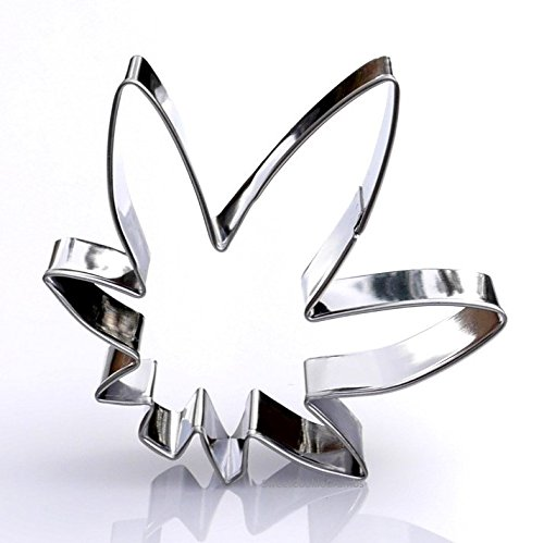 Marijuana Leaf Cookie Cutter- Stainless (Marijuana Leaf)