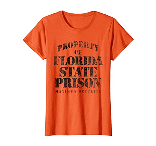 Womens Florida Prison Funny T-Shirt XL Orange