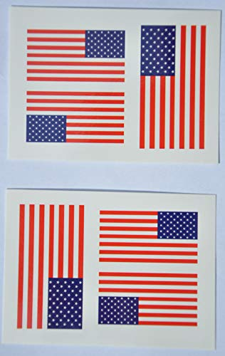 Face Tattoo UK Country of Union USA Temporary 5 Jack packs Flag Sticker q1RCF