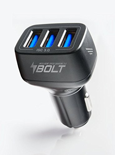 NEWEST Adaptive Fast Car Charger TRINITI Smart IC 9A/54W Triple USB Car Charger Adapter w/3 Quick Charge 3.0 High Speed Charging Power Ports. Multi USB Fastest Charge for any iOS & Android device by TriniTi Tek