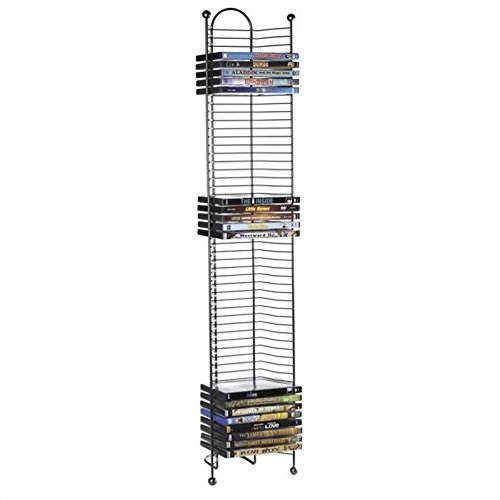 Atlantic Inc 43'' Nestable DVD Tower in Gunmetal