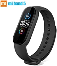 "Newest mi Band 5 Fitness Tracker,Smart Watch Full Colour AMOLED 1.1"" Touch Screen Waterproof,Activity Tracker"