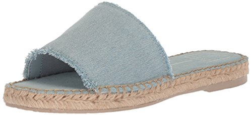 Dolce Vita Women's Bobbi Slide Sandal, LT Blue Denim, 7.5 M US