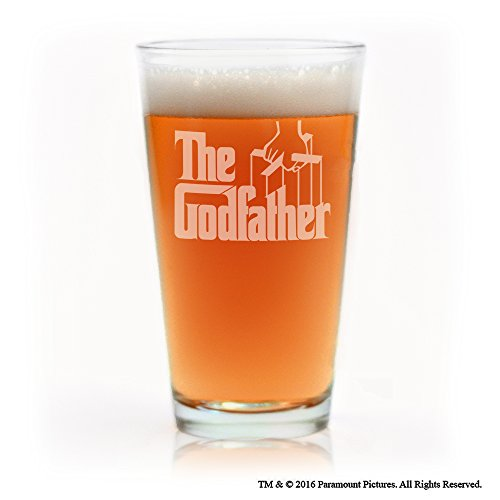 Movies On Glass - The Godfather Movie Engraved Logo Beer Pint Glass