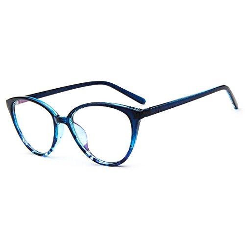 D.King Women Optical Cat Eye Glasses Vintage Fashion Mod Clear Lens Eyeglasses Eyewear - Prescription Shaped Cat Eye Glasses