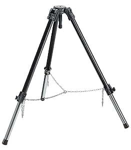 Manfrotto 132XNB -Trípode de vídeo para grandes cargas (aluminio), negro