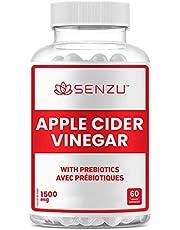 Apple Cider Vinegar Capsules with Prebiotics (1500 mg) - Antioxidant, Digestion, Fiber Supplement | Made in Canada