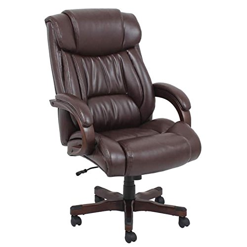 Barcalounger s Big & Tall Executive Chair, 350 lb, Brown