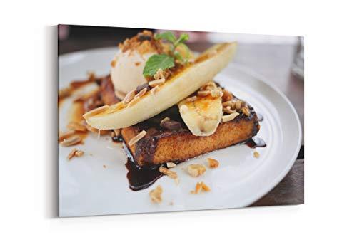 Waffle Toast Banana and Pecan in Bangkok Thailand - Canvas Wall Art Gallery Wrapped 12