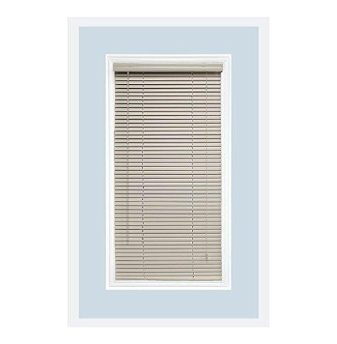Custom-Made Aluminum Horizontal Window Mini Blinds, 1 Inch Slats, Off White, Inside Mount
