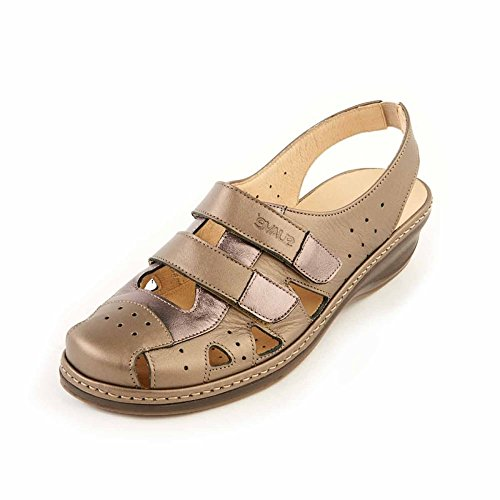 Suave Flat Sandal, Casual, comodidad Holly Oro, Metálico Gold & Metallic