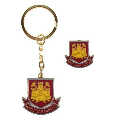 West Ham United F.C. Keyring and Badge Set. A perfect product/gift to show support for the team you love. Also availible in other clubs. by West Ham United F.C. (Keyring Ham West)