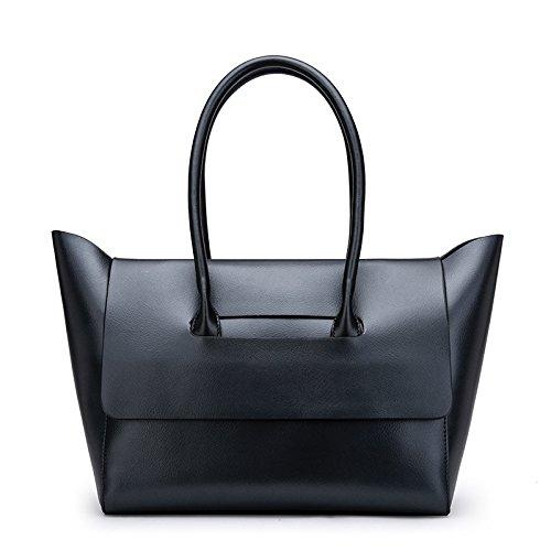 GUANGMING77 _ Bag Bolso Portátil Simple Hembra Suave Bolsa De Hombro Messenger Sra.,Color Bronce black