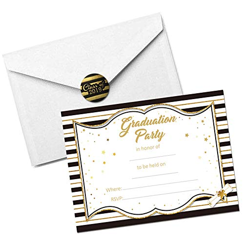 Graduation Party Supplies Invitations with Envelopes 2019,Grad Congrats Announcements 30Ct