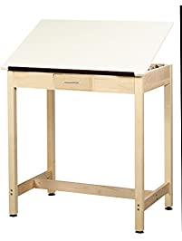 diversified woodcrafts dt3a37 uv finish solid maple wood artdrafting table with 1 - Drafting Table Ikea