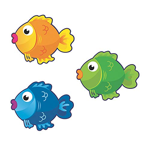 Fun Express - Bulletin Board Cutouts - Fish - Educational - Classroom Decorations - Bulletin Board Decor - 48 Pieces