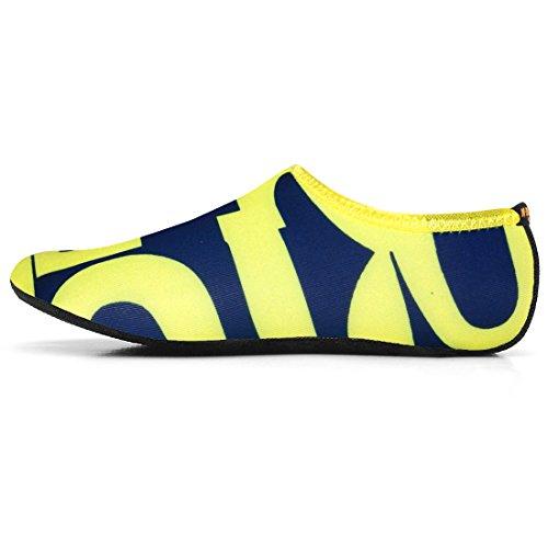Justonestyle Nbera Barfota Flexibla Vatten Hud Skor Aqua Strumpor För Stranden Simma Surfa Yoga Övning Ltr_yellow