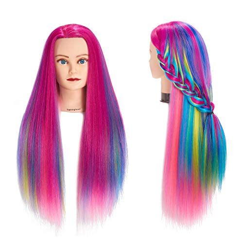 Traininghead Mannequin Cosmetology Synthetic Hairdressing product image