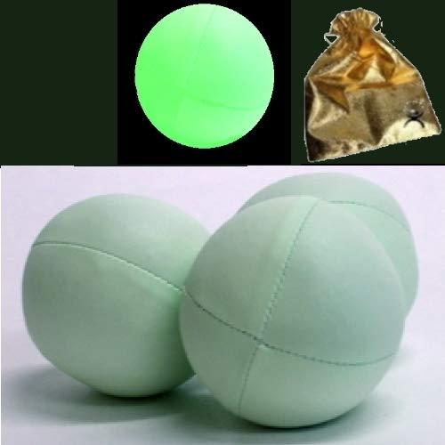 AGILEITALIA SET DI 3 Juggling ball Palline giocoliere luminose Glow Fosforescenti con custodia