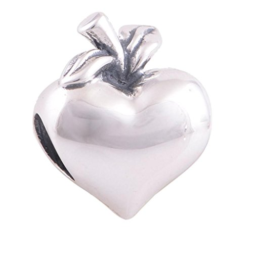 Globalwin Women's 925 Sterling Silver Heart Charms i love you to the moon and back for christmas floating charms