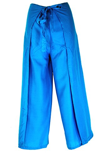 Guru-Shop Wickelhose - Blau, Herren/Damen, Viskose, Size:One Size, Wickelhosen Alternative Bekleidung