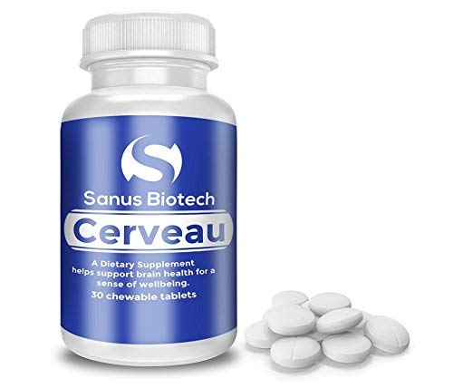 Cerveau - Mood Booster Supplement for Less Anxiety, Stress, Cravings, Chronic Unhappiness and Depression - Improves Brain Memory, Concentration, Focus and Improve Energy, (30 Chewable Tablets) (5 Htp And L Tyrosine With Adderall)