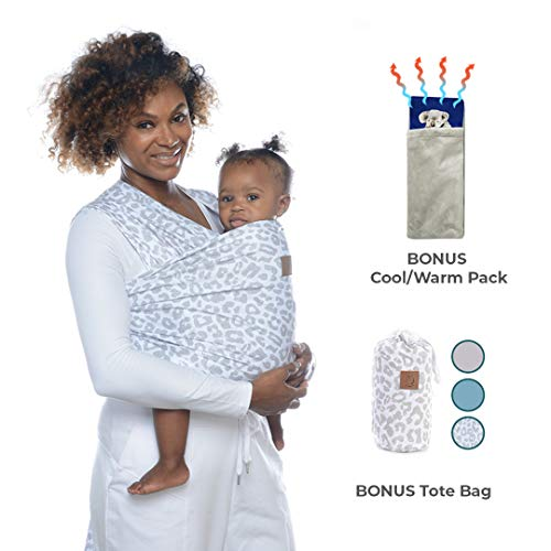 Baby Bundle SmartBebe Baby Wrap Carrier and Heating Pad Bundle - Baby Sling, Nursing Breastfeeding Cover Scarf - Stylish Slings, Wraps and Carriers for Newborn Boys and Girls with Smart Moms (Best Wrap For Breastfeeding)