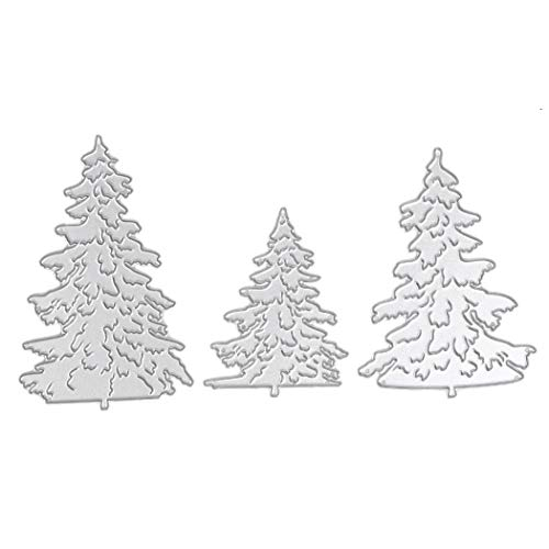 (Metal Cutting Dies Stencil Template Mould for DIY Scrapbook Album Paper Card Decorative Craft Embossing Die Cuts (Christmas Tree))