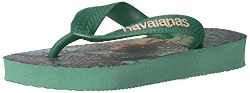 Pictures of Havaianas Kids Flip Flop Sandals, The Good Dinosaur, (Toddler/Little Kid),Green Tea, Green Tea,33/34 BR (3-4 M US Little Kid) 1