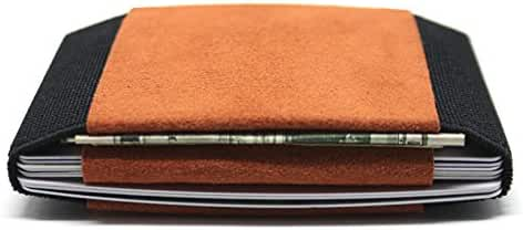 Aura Alcantara Leather Slim Transforming Front Pocket Wallets and Card Holders
