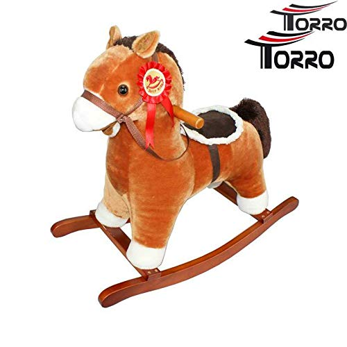 Brown TORRO 3191701002/Rocking Horse Small with Sound Effects
